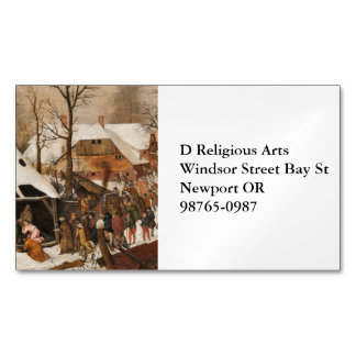 Census in Bethlehem Business Card Magnet