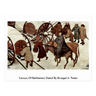 Census Of Bethlehem Detail By Bruegel A. Pieter Postcard