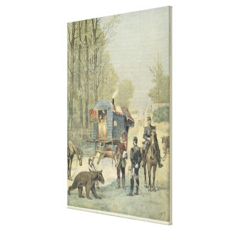 Census of Travellers in France Stretched Canvas Prints