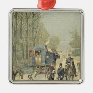 Census of Travellers in France Metal Ornament