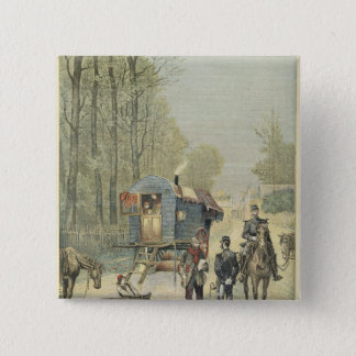 Census of Travellers in France Pinback Button