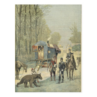 Census of Travellers in France Postcard