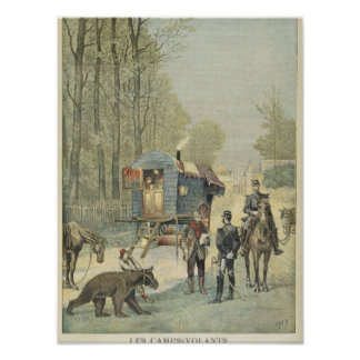 Census of Travellers in France Print