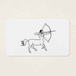 centaur archer sagittarius business card