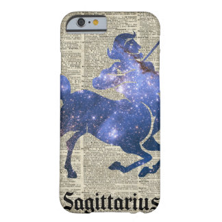 Centaur Archer Space Collage Over Old Book Page Barely There iPhone 6 Case