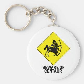 Centaur Basic Round Button Keychain
