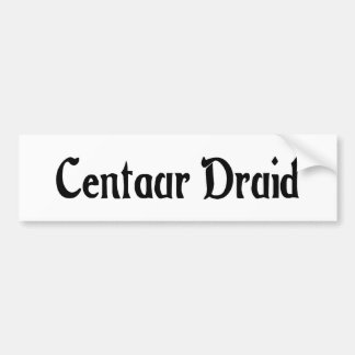 Centaur Druid Bumper Sticker