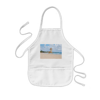 Centaur en la playa delantal infantil