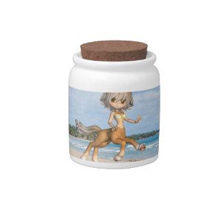 Centaur en la playa plato para caramelo