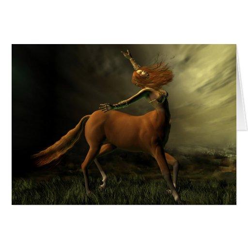 Centaur en la tormenta tarjeta de felicitación