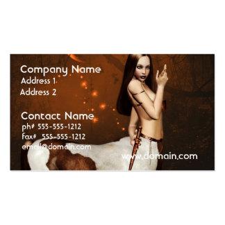Centaur en las tarjetas de visita de noche