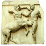 "Centaur Frieze Statuette<br><div class=""desc"">Photo sculpture of an image of a Greek frieze of a centaur and man at battle. This is a great d&#233;cor piece for your toga party that can be used most anywhere, even in a centerpiece. See the entire Toga Photo Sculptures collection in the DECOR 