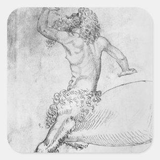 Centaur, from the The Vallardi Album Square Sticker