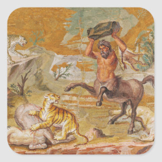 Centaur Mosaic Killing A Tiger 100AD-200AD Square Sticker