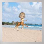 Centaur on Beach Poster