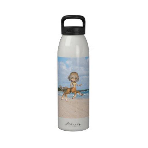 Centaur on Beach Reusable Water Bottle