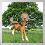 Centaur Playing Poster