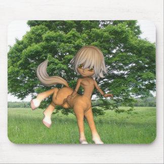 Centaur que juega el cojín de ratón tapete de raton