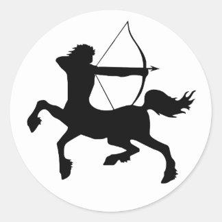 Centaur Round Stickers