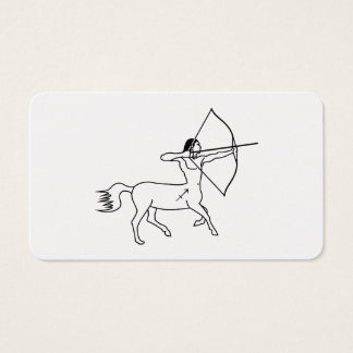 centaur sagittarius greek astrology zodiac business card