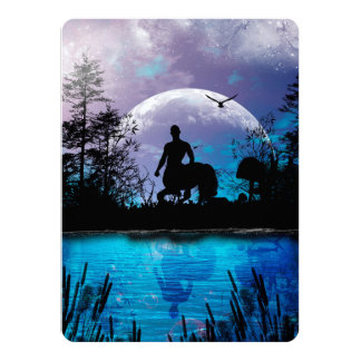 Centaur silhouette card