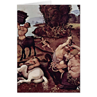 Centaurs And Lapiths Detail By Piero Di Lorenzo Greeting Card