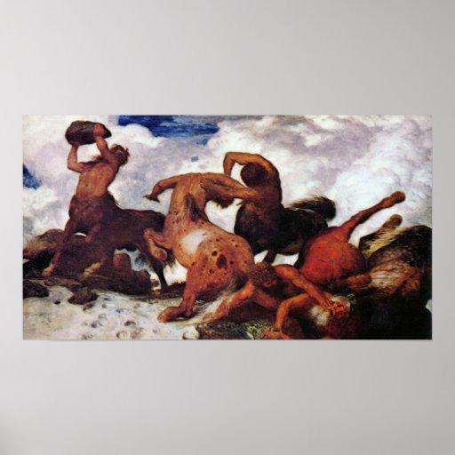 Centaurs by Arnold Bocklin Poster