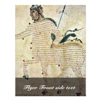"""Centaurs de Aretea-The de Karolingischer Buchmaler Folleto 8.5"""" X 11"""""""