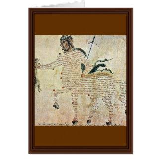 Centaurs de Aretea-The de Karolingischer Buchmaler Tarjeta De Felicitación