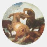 Centaurs Pegatina Redonda