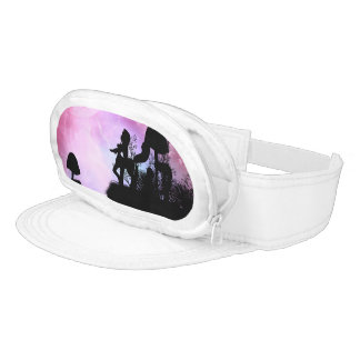 Centaurs silhouette in the purple night visor