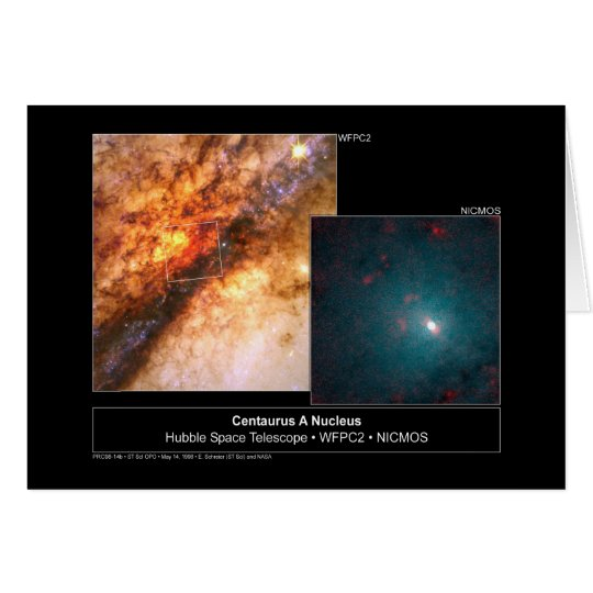 Centaurus A Nucleus Hubble Telescope Card