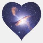 Centaurus A Pegatina En Forma De Corazón