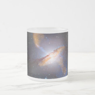 Centaurus A Shows a Supermassive Black Holes Power Frosted Glass Coffee Mug