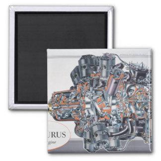 Centaurus Radial Aircraft Engine Cutaway Drawing Magnet
