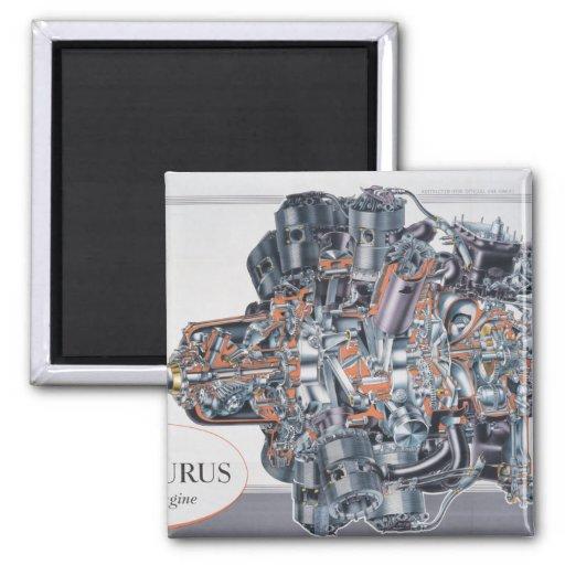 centaurus radial aircraft engine cutaway drawing refrigerator magnet zazzle
