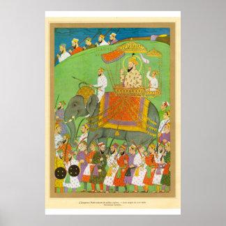 Centavo de Bader del arte del emperador asiático c Póster