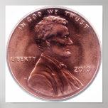 Centavo de Lincoln Impresiones