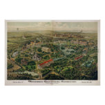 Centavo de Nashville. Expo, 1876 (Hndsn) BigMapBlo Póster