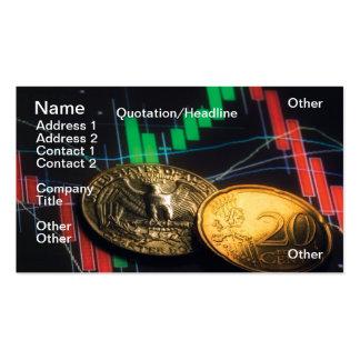 Centavos de las divisas tarjetas de visita
