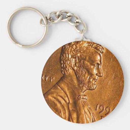 Centavos Lincoln de cobre del penique Llaveros Personalizados