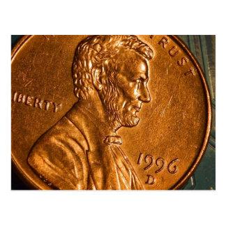 Centavos Lincoln de cobre del penique Postal