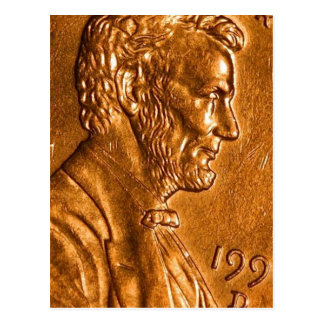 Centavos Lincoln de cobre del penique Tarjetas Postales