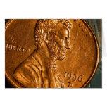 Centavos Lincoln de cobre del penique Tarjeton