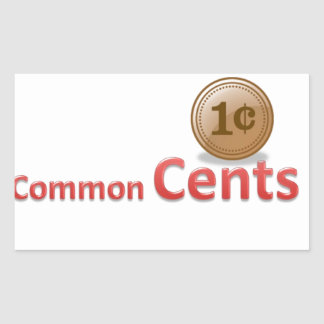 centavos pegatina rectangular