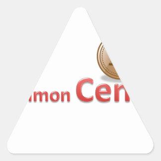 centavos pegatina triangular