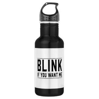 Centelle si usted me quiere botella de agua de acero inoxidable