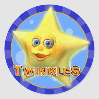 Centellean los pocos pegatinas de la estrella pegatina redonda
