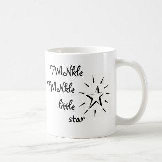 Centelleo, centelleo poca estrella taza clásica