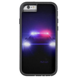 Centelleo completo de las luces del coche policía funda de iPhone 6 tough xtreme